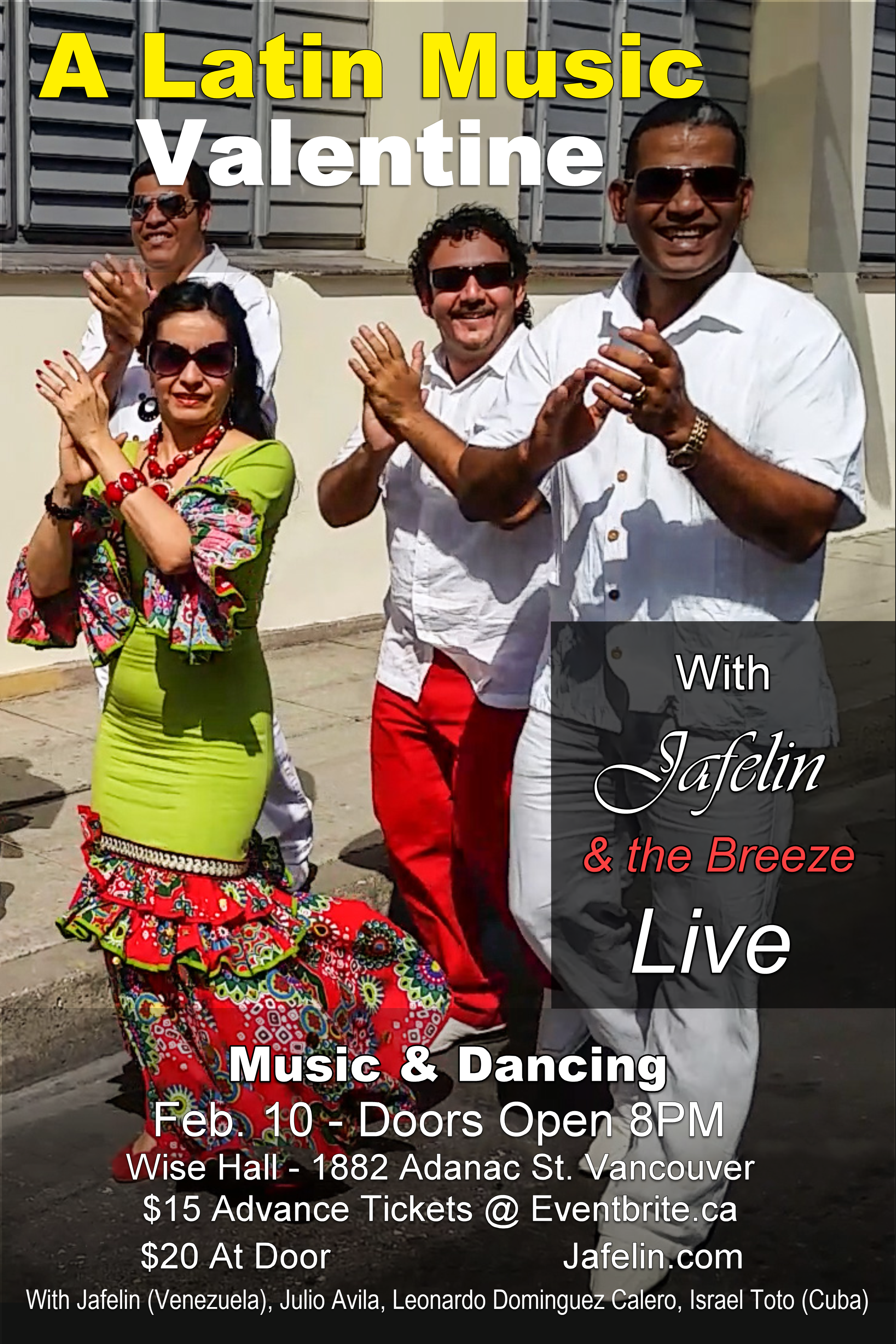 A Latin Music Valentine with Jafelin & the Breeze band – Wise Hall